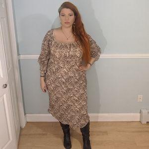 Ashley Stewart dress  tribal print plus size 16